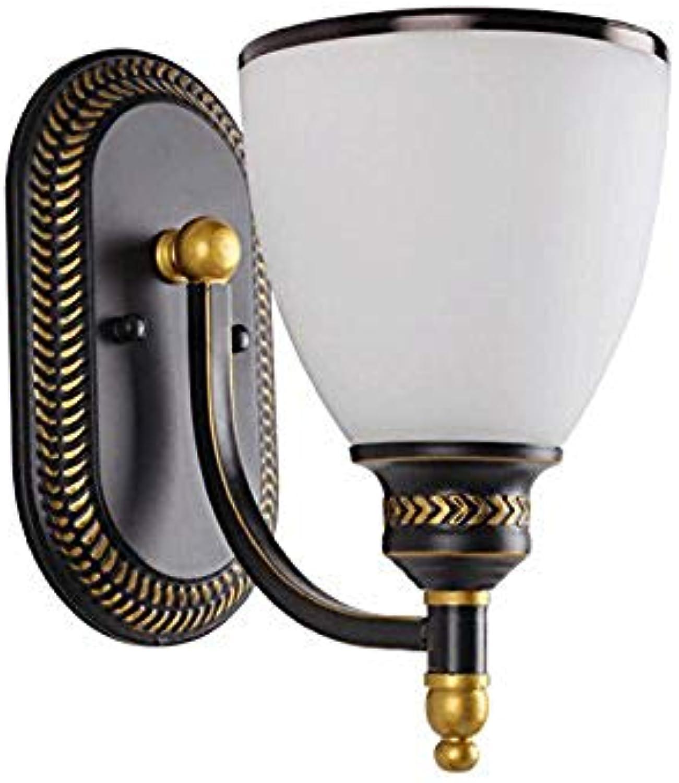 Wandlampe Amerikanische kreative moderne unbedeutende verwendbare für Gang beleuchtet Balkon-Schlafzimmer-Wandlampe wandleuchte (ausgabe   Einzelkopf)