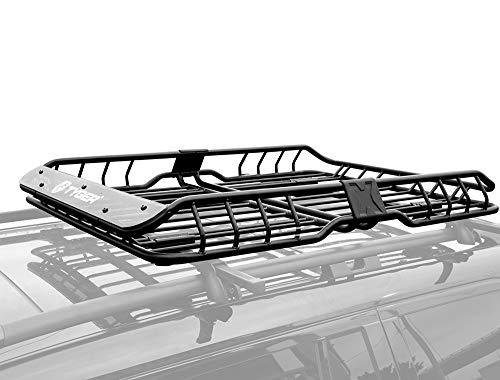 Tyger Auto TG-RK1B942B Heavy Duty Roof Mounted Cargo Basket Rack | L57.5 x W42 x H6 | Roof Top...