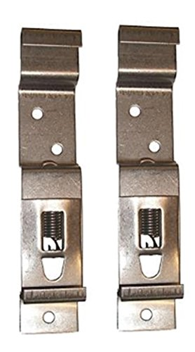 leisure MART 2 x Trailer number plate clips or holders spring loaded stainless steel Pt no. LMX1867