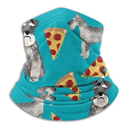 AEMAPE Schnauzers Perro Pizzas Mascarilla Cuello Calentador Collar Bufanda Bandana Bufanda Pasamontañas