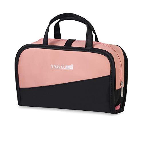 Kulturtasche 2 in 1 für Damen/mädchen rosa, Kosmetiktasche wasserdicht Reise Kulturbeutel zum Aufhängen, tragbar transparent Kosmetikbeutel 2 in 1 für Frauen zur Urlaub Outdoor Camping