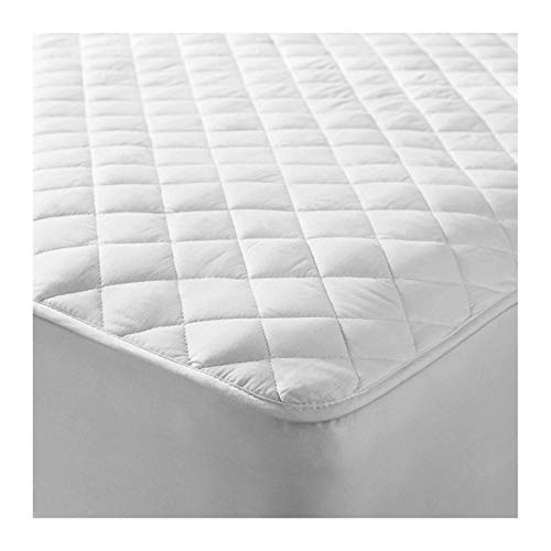 CAROLINE SHATUIK Quilted King Size Mattress Protector.Microfiber Top Layer Filled underneath with Breathable &Soft Hollow fiber,Washable Fitted Sheet Style Topper Cover Extra Deep(152 x 200+30cm).