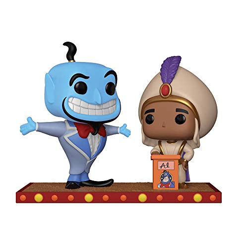 Funko 29375 POP Vinyl: Disney: Movie Moment: Aladdin: Genie and Aladdin's First Wish, Multi