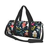 Women'S Nutcracker Ballet Xmas Dance Printed Large Duffel/Weekender Bag,Gym Bag For Women And Men,Travel Bag,With Shoe And Wet Clothes Compartments