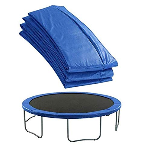 ZLRE Housse de Protection pour Trampoline de Rechange Trampoline Safety Pad Mat Spring Cover, UV-Resistant, Tear-Resistant Edge Trampoline Frame Replacement Mat,12ft