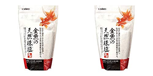 スドー 金魚の天然珠塩 1kg×2袋