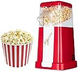 SBDLXY Máquina eléctrica para Hacer Palomitas de maíz, Tapa extraíble automática de Aire Caliente sin Grasa, Fondo Antideslizante, para el hogar, Fiesta, Cine, Regalo