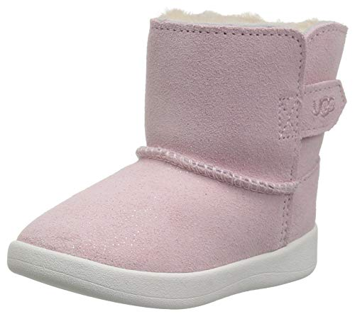 UGG Girls' I Keelan Sparkle Fashion Boot, Baby Pink, 4/5 M US Infant