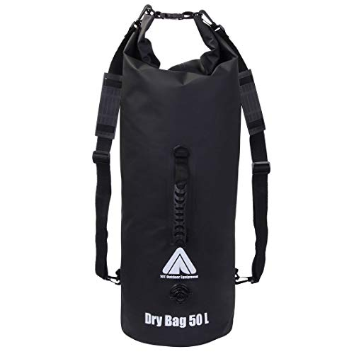 10T Dry Bag 50 L wasserdichter Packsack Rucksack Seesack Stausack mit Schultergurten & Tragegriff