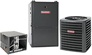4 Ton Goodman 16 SEER R410A 96% AFUE 120,000 BTU Two-Stage Variable Speed Horizontal Gas Furnace Split System