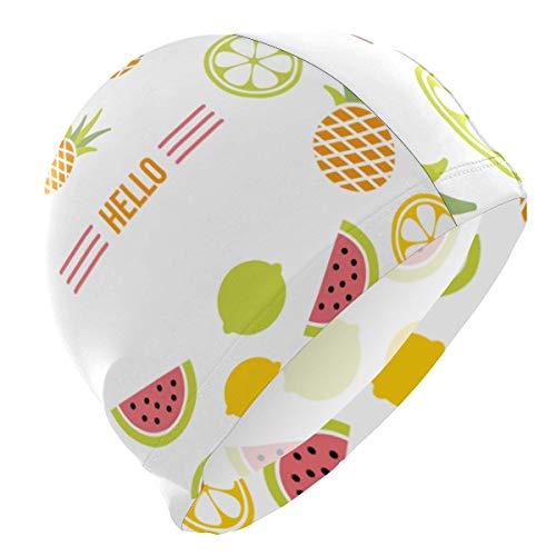 NZ Cuffia da Bagno Hello Summer Fruits Cuffia da Bagno La Cuffia da Bagno Confortevole Mantiene i Capelli puliti e Traspiranti