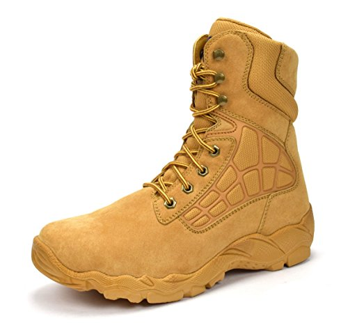 "Condor Arizona Men's 8"" Steel Toe Work Boot - Wheat, Size 9.5 E US"