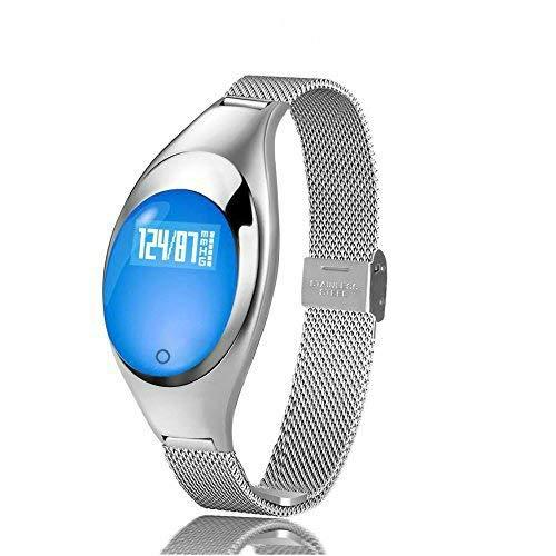 JHMAOYI Reloj Inteligente Pulsera de Ritmo cardíaco presión Arterial Monitor de sueño Deportes Paso Salud Banda de Acero Reloj Inteligente