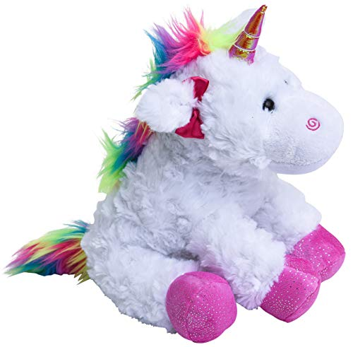 The Petting Zoo Rainbow Unicorn Stuffed Animal, Unicorn Gifts for Girls, Plush Toy 11 inches