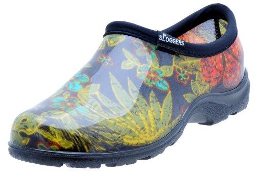 Sloggers Women's Waterproof  Rain and Garden Shoe with Comfort Insole, Midsummer Black, Size 8,...