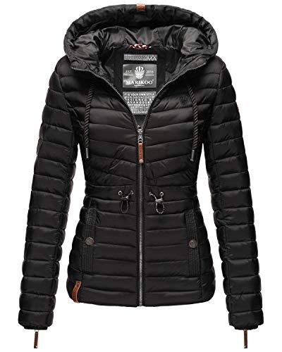 Marikoo Damen Übergangsjacke Stepp-Jacke mit Kapuze Aniyaa Black Gr. M