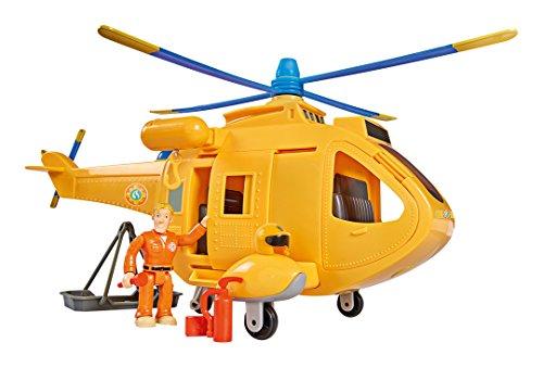 Smoby - Sam le Pompier - Hélicoptère Wallaby 2 - Sons et Lumières - 1 Figurine Incluse - 109251002002