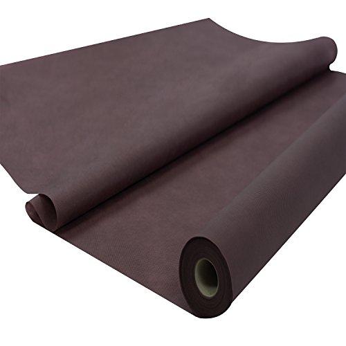 Sensalux Tischdeckenrolle aus stoffähnlichem Vlies, 1,20m x 25m lang, Braun, ideal für Jede Party, Catering, Vereinsfeier, Hochzeit, Geburtstagsfeier