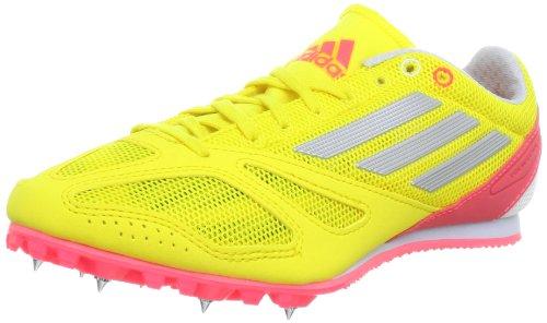 adidas Performance Techstar Allround 3 Q22645, Unisex-Erwachsene Laufschuhe, Gelb (Running White Ftw / Metallic Silver / Red Zest S13), EU 44 2/3 (UK 10)
