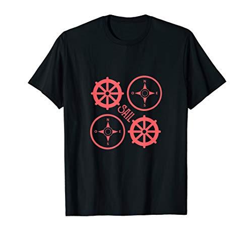 Segeln | Schiff | Boot | Ruder | Kompass T-Shirt
