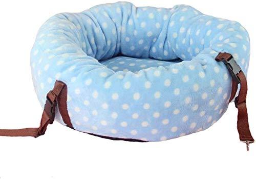 YLCJ Zelfverwarming en uitnodigend om beter te slapen Machine wasbaar Huishoudelijke kat Hangmat Nest nest nest Double-use Comfortabel snel verschonen bed met ademend katoen voor katten (Kleur: roze, Maat: S), L, Blauw