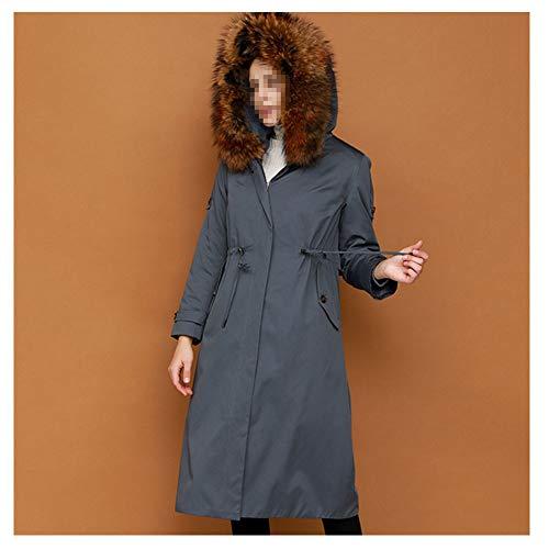 LJYY wintermantel van kunstbont gevoerd voor school, lange jas, warm en casual, dik, comfortabel.