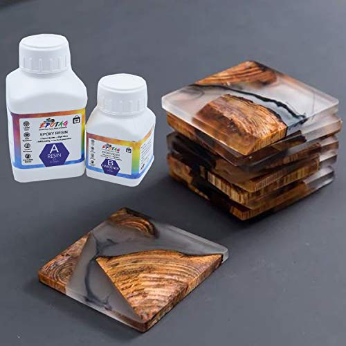 Epotag Epoxy Resin and Hardener Kit Crystal Clear for Jewelry DIY Art Crafts Cast Coating Wood,Easy Cast Resin (300 Gms)