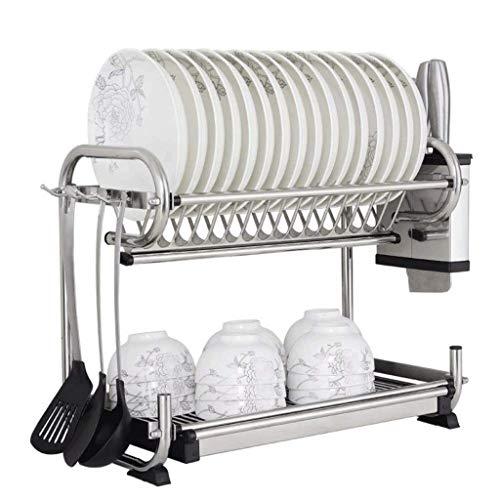 JJYGONG Cubiertos de Acero Inoxidable Rack Rack de Desagüe Alenamiento de la Cocina Estante de la Cocina Montado en la Pared Utensilio de la Pared Rack Práctico / 57Cm (Tamaño: 57 Cm