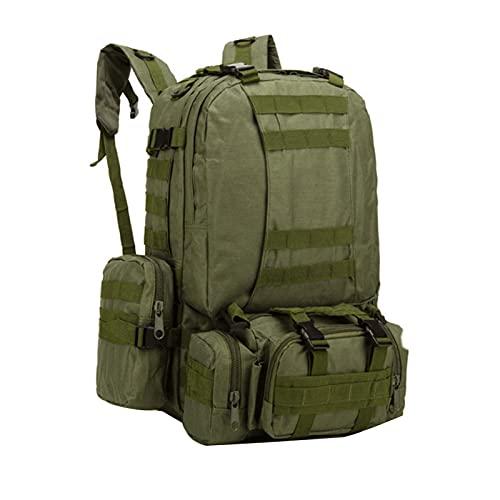 Nicebags - Borsa da trekking e alpinismo, zaino da esterno con combinazione di grande capacità, borsa impermeabile (verde militare)