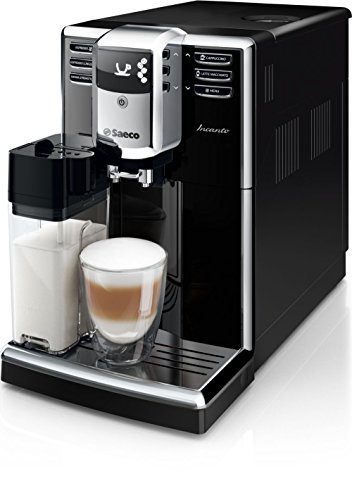 Saeco Incanto HD8916/09 - Cafetera (Independiente, Máquina espresso, 1,8 L, Molinillo integrado, 1850 W, Negro)