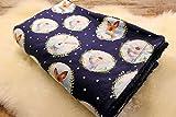 kuschelige Babydecke Kuscheldecke Wagendecke Baby-Decke blau Fuchs Hase Tiere handmade