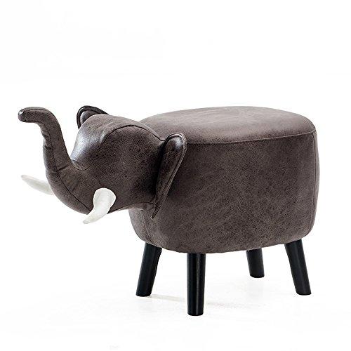 FEI Bequem Kinder Elefantenhocker Massivholz Sofa Hocker Cartoon-Stil W71.5 * D33 * H41cm Stark und langlebig (Farbe : D-PU)
