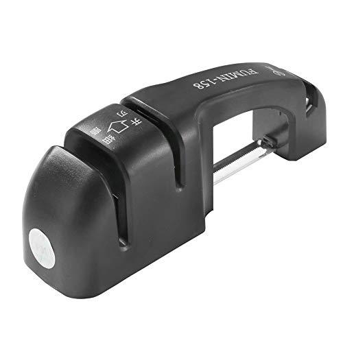 Couteau Portable ménage Sharpener Whetstone ustensiles de cuisine Convient for Couteau en acier inoxydable noir 16,6 × 3,5 × 5,6 cm
