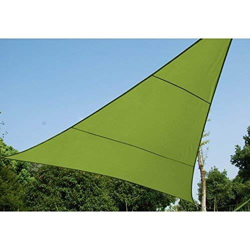 Driehoekig zonnezeil 3 x 3 x 3 m van waterafstotende stof - kleur groen