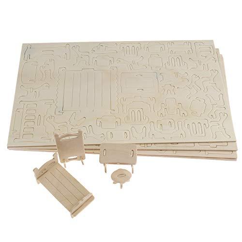 Muebles delicados de la casa Muñecas de madera Juguete Miniatura Silla de bebé Litera Juego de imaginación Niños Regalo de niños