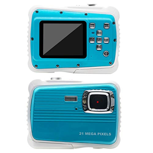 AMTSEE Kinderkamera Wasserdicht 21MP HD Digitalkamera 2,0 TFT LCD Bildschirm Kamera für Kinder 8-facher Digitalzoom Spielzeug für Children16GB TF Kartenaufzeichnung Camcorder Unterwasser 3M Video Mini
