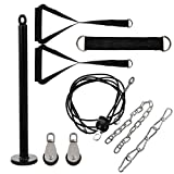 Homoyoyo 1 Set Fitness Lat and Lift Polea System DIY Loading Lifting Triceps Rope Equipo de Gimnasio en Casa para Tríceps Pull Down Biceps Curl Back Forearm Shoulder