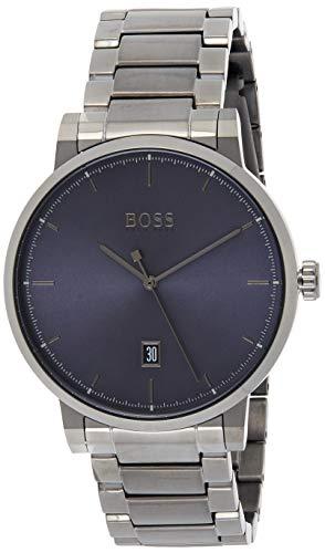 Hugo Boss Herren Analog Quarz Uhr mit Edelstahl Armband 1513793