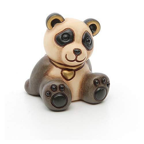 THUN ® - Panda Piccolo Con Cuore - Animali Da Soprammobile Da Collezione - Ceramica - I Classici