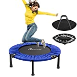 """PERLECARE 38"""" Mini Trampoline for Adults, Safety Indoor Rebounder Trampoline for Kids, Folding Small Trampoline with Storage Bag for Home Exercise Fitness, Max Load 300lbs"""