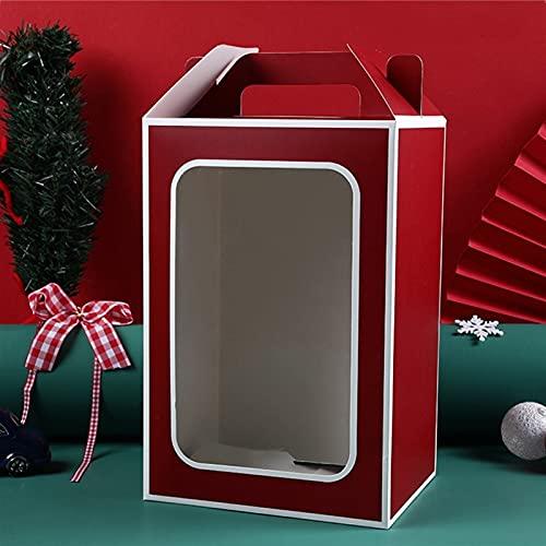 xczbb Pacco Regalo New Trasparente Packaging Tote Bag Party di Nozze Festa di Natale Regalo di Natale Borsa da Regalo Stand Cancella Finestra Scatola (Color : G, Gift Box Size : S 18x13x25cm)
