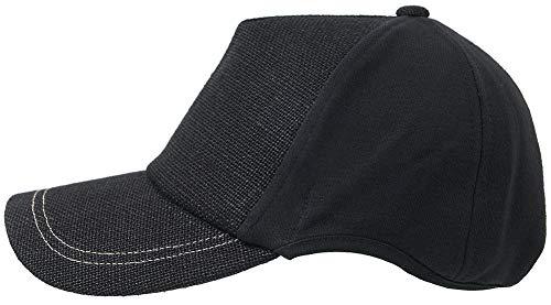 [ビッグワッチ] 帽子 大きいサイズ ヘンプ コットン ラウンド キャップ ブラック CPRM-01 メンズ L XL