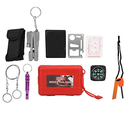 DEWIN Outdoor Survival Kit Falten Multitool Zangen Set Camping Wandern Selbsthilfe Werkzeuge Box Pack Falten Multitool Zangen Set