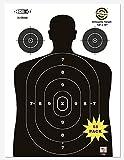 HOITO Shooter Win- 55Pack 12 X 18 inch-Silhouette Range Shooting Paper Targets Shoot for Firearms,Pistols,Rifles,BB Guns,Airsoft Guns,Pellet Guns