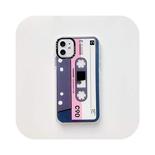 レトロクラシック古いカセットテープグラデーション電話ケースfor iPhone 11プロマックスXR XsマックスX 7 8 6 6Sパルスケースソフトシリコーンカバー-D-for iPhone X