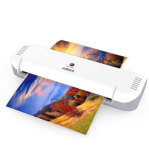ABOX A4 Laminator Machine, Portable Thermal Laminating Machine OL141 with 12 Pouches, Fast Warm-up & No Bubbles, for Home/Office/School
