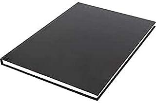 Kangaro Notitieboek A4 harde kaft, gelinieerd, Zwart, 80 gram, 80 pagina's gelinieerd met zijlijn, K-5520, 29.7x21.1x1.2