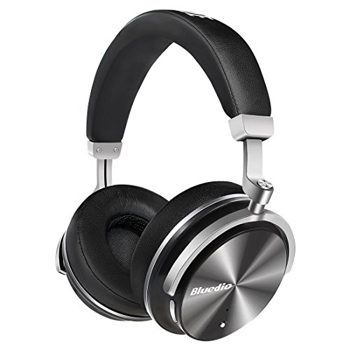 Bluedio T4 (Turbine) Active Noise Cancelling Wireless Kopfhörer Bluetooth 4.2 Drehbare Ohrpolster mit Over-Ear Design (Schwarz)