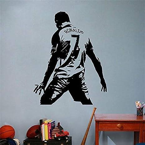 pegatinas de pared 3d infantil Cristiano Ronaldo, Número 7 ...