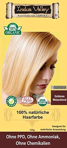 IndoNatura Indus Valley 100% natürliche Haarfarbe Weizenblond Pflanzenhaarfarbe